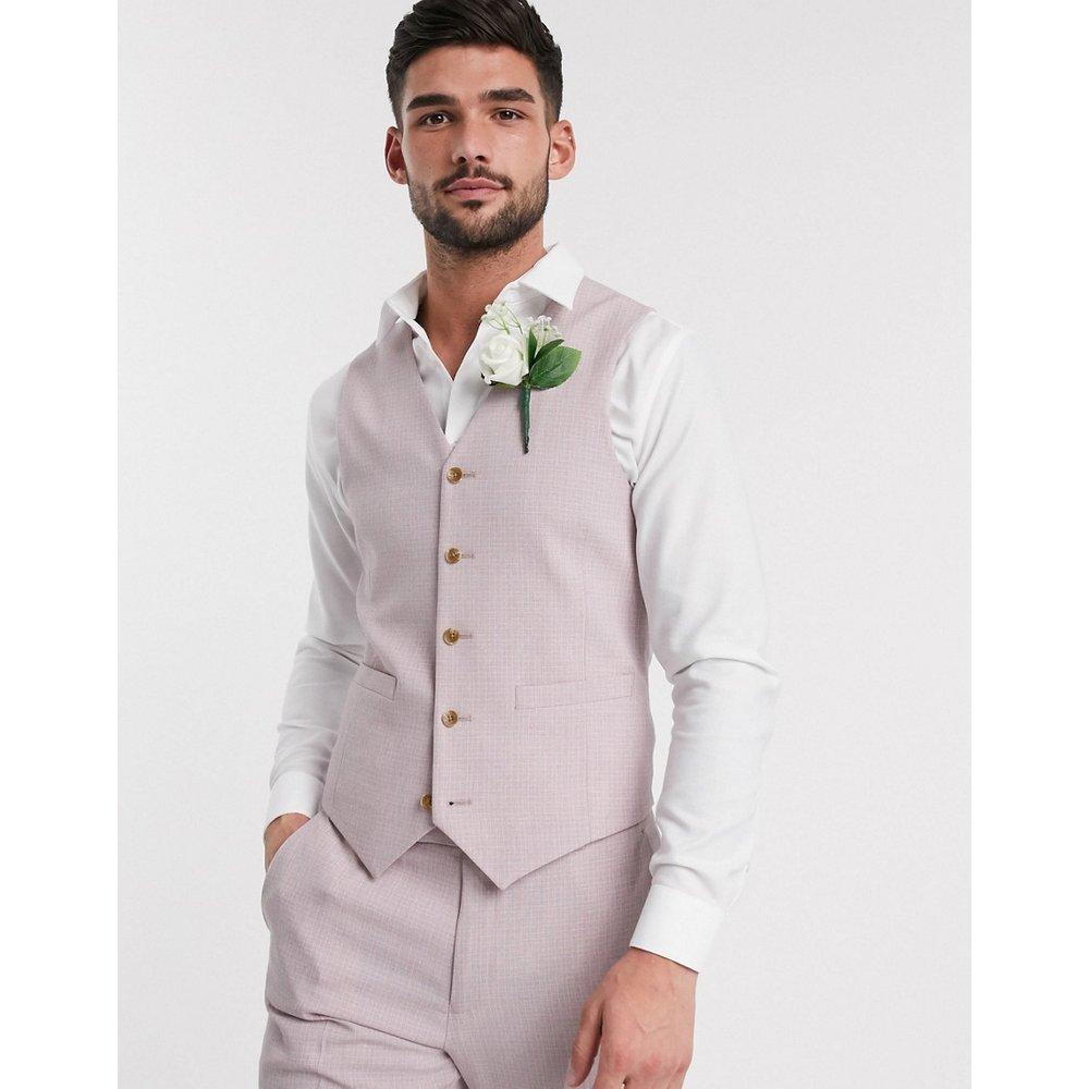 Wedding - Veston de costume ajusté effet hachuré - thé - ASOS DESIGN - Modalova
