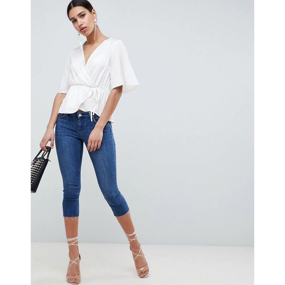 Whitby - Jean skinny taille basse longueur pantacourt - London - ASOS DESIGN - Modalova