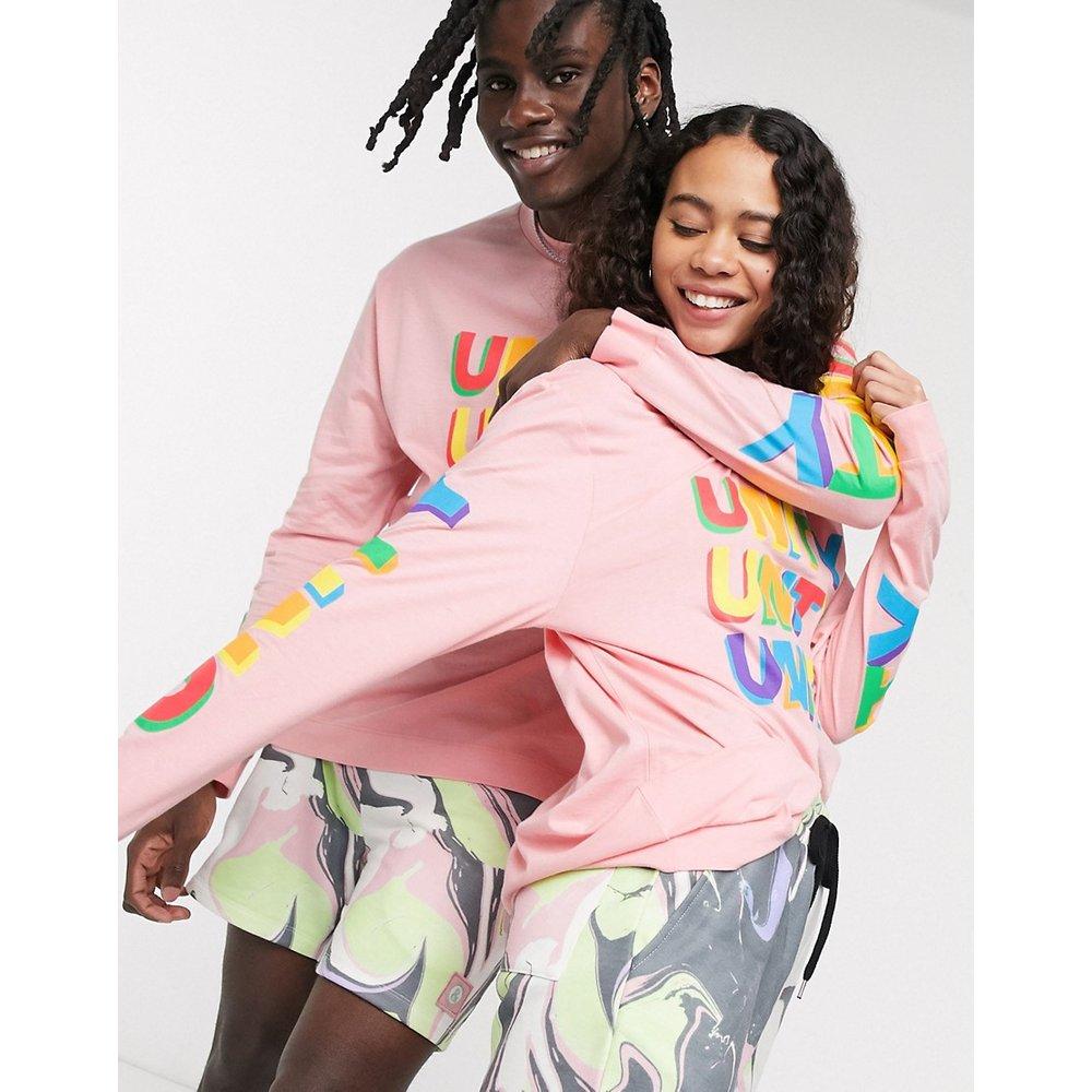 X glaad& - T-shirt unisexe oversize à manches longues et imprimé - ASOS DESIGN - Modalova