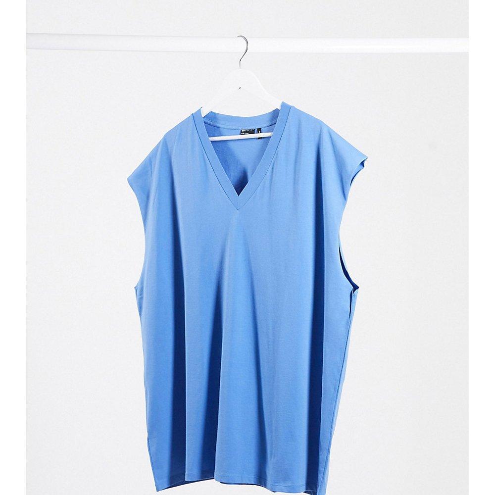 Plus - T-shirt long sans manches coupe oversize - ASOS DESIGN - Modalova