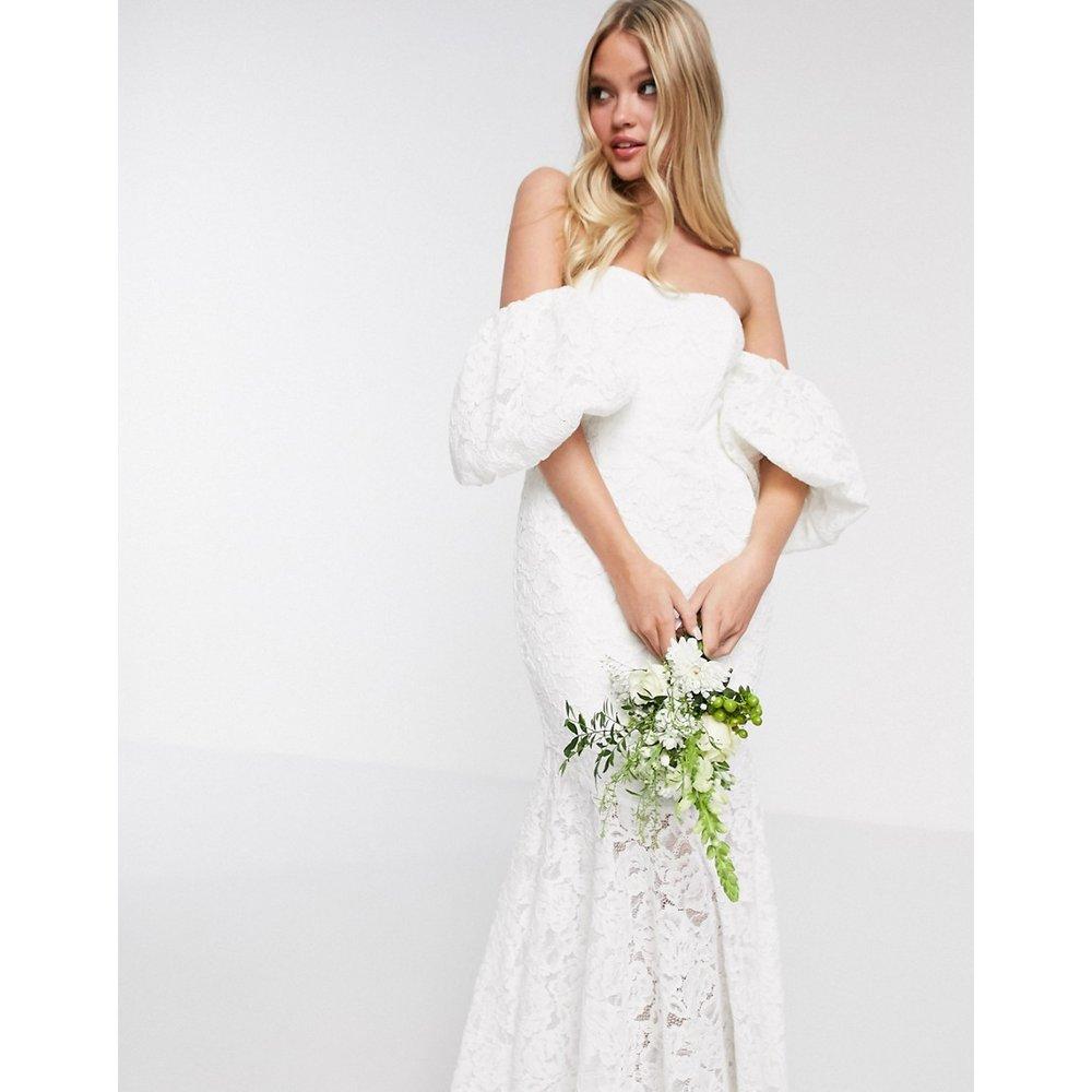 Chelsea - Robe de mariage en dentelle épaules dénudées - ASOS EDITION - Modalova
