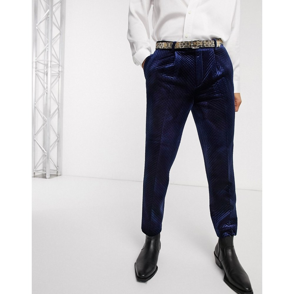 Pantalon habillé en velours matelassé - ASOS EDITION - Modalova