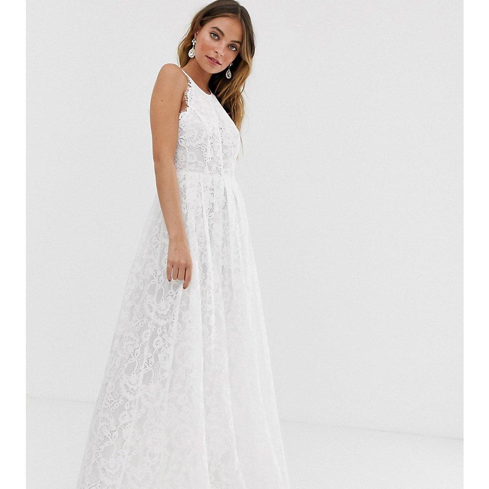 Petite - Robe de mariée dos nu longue en dentelle - ASOS EDITION - Modalova