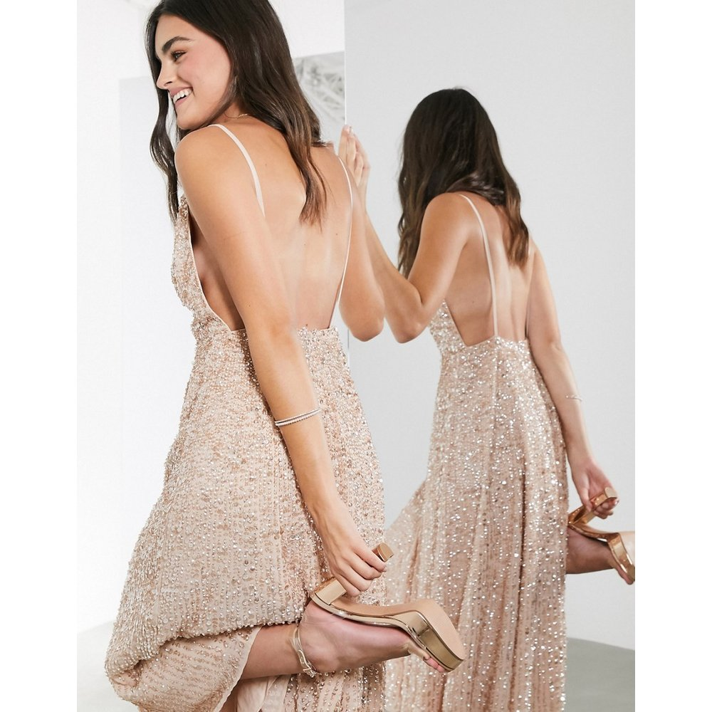 Robe caraco mi-longue avec ornements - ASOS EDITION - Modalova
