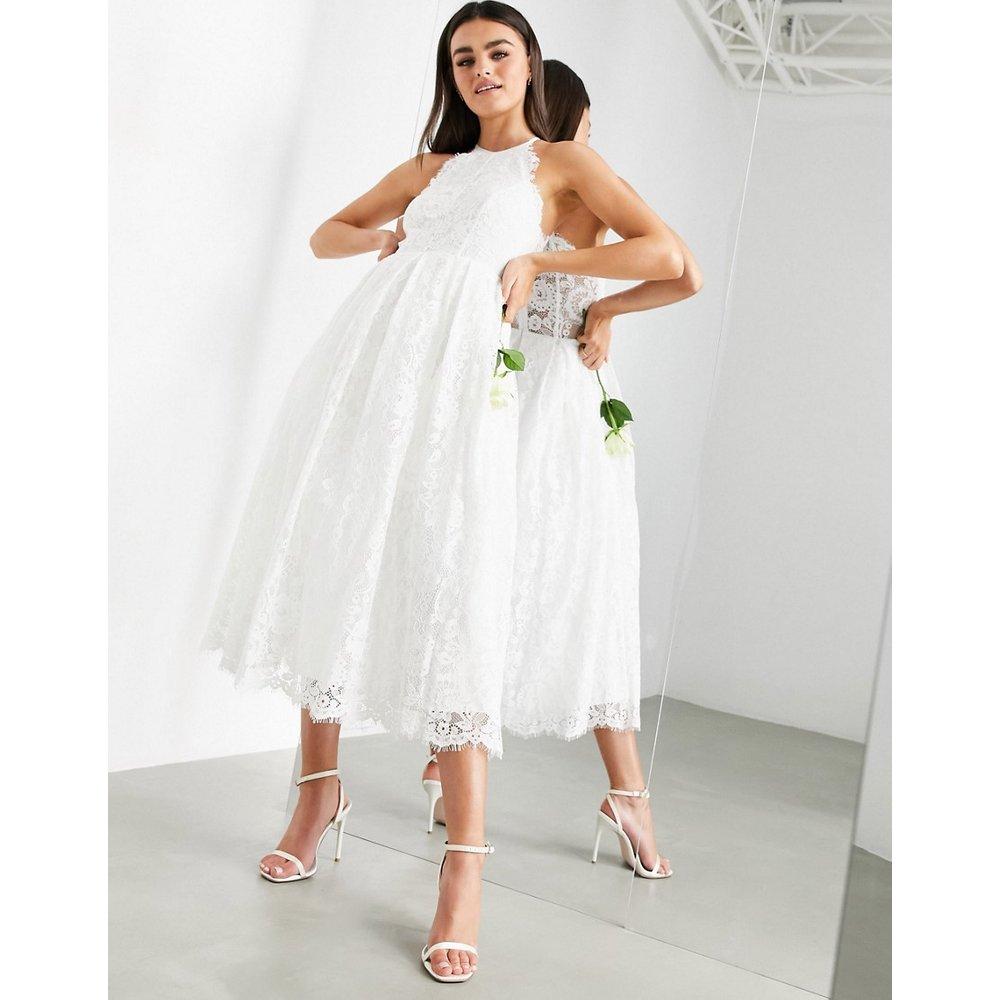 Robe de mariage dos nu mi-longue en dentelle - ASOS EDITION - Modalova