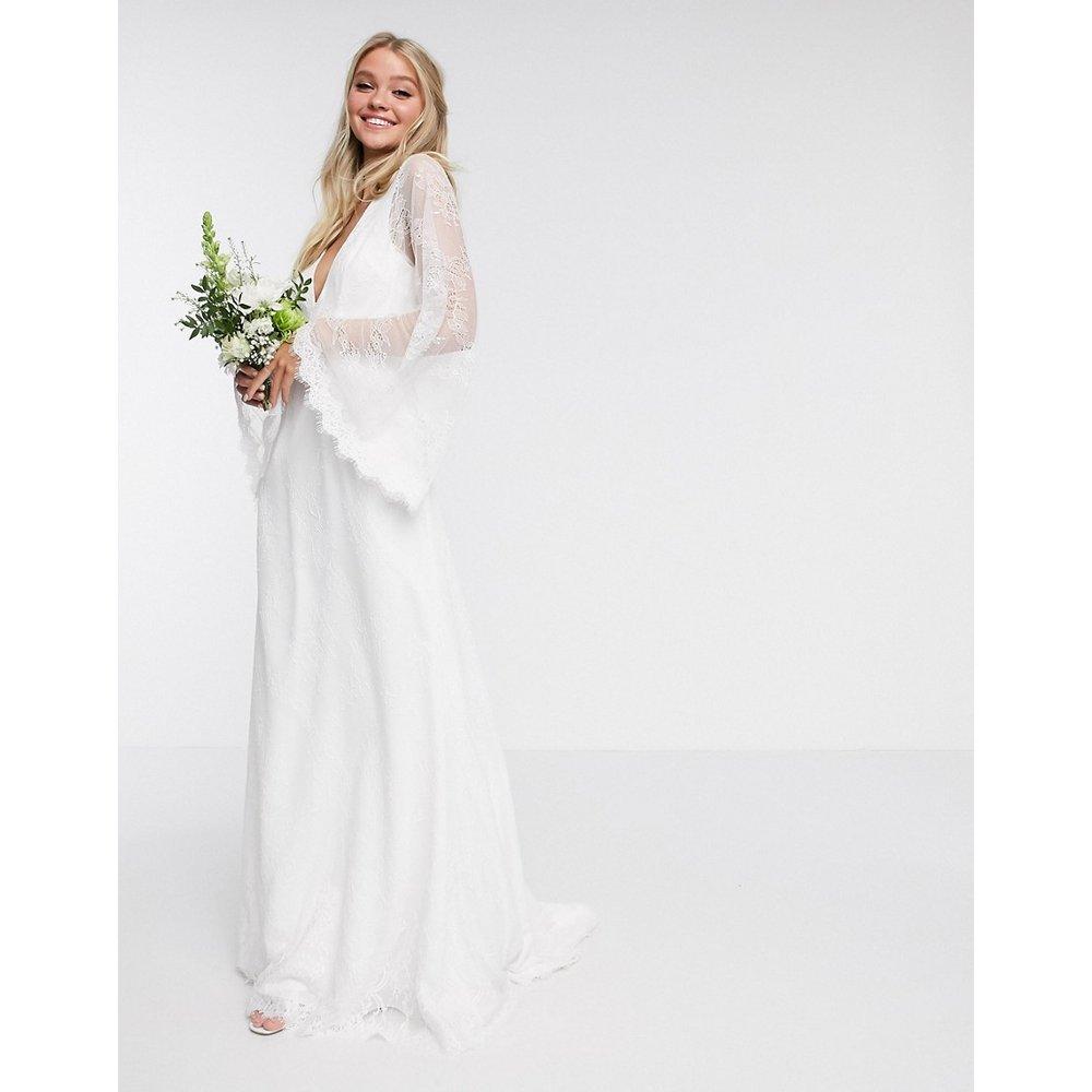 Robe de mariage en dentelle à manches kimono - ASOS EDITION - Modalova