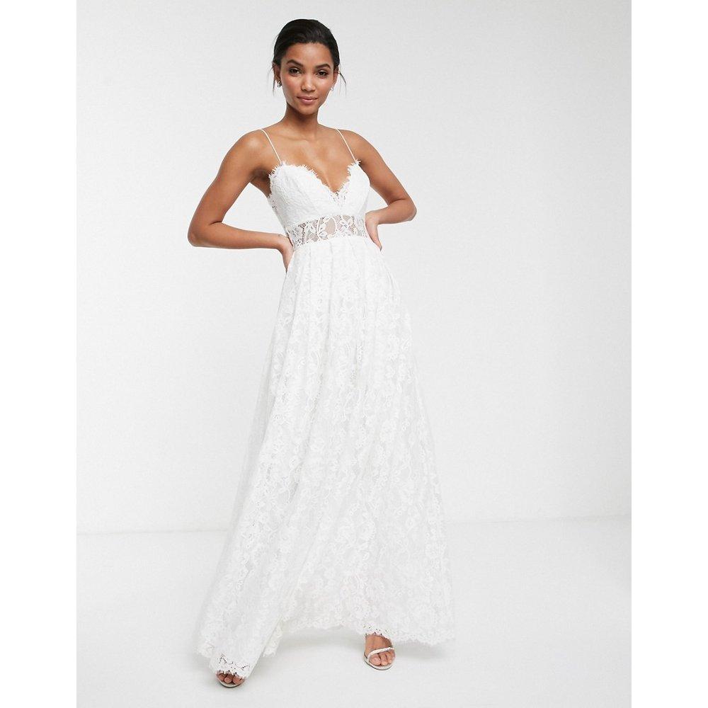 Robe de mariée caraco en dentelle avec jupe évasée - ASOS EDITION - Modalova