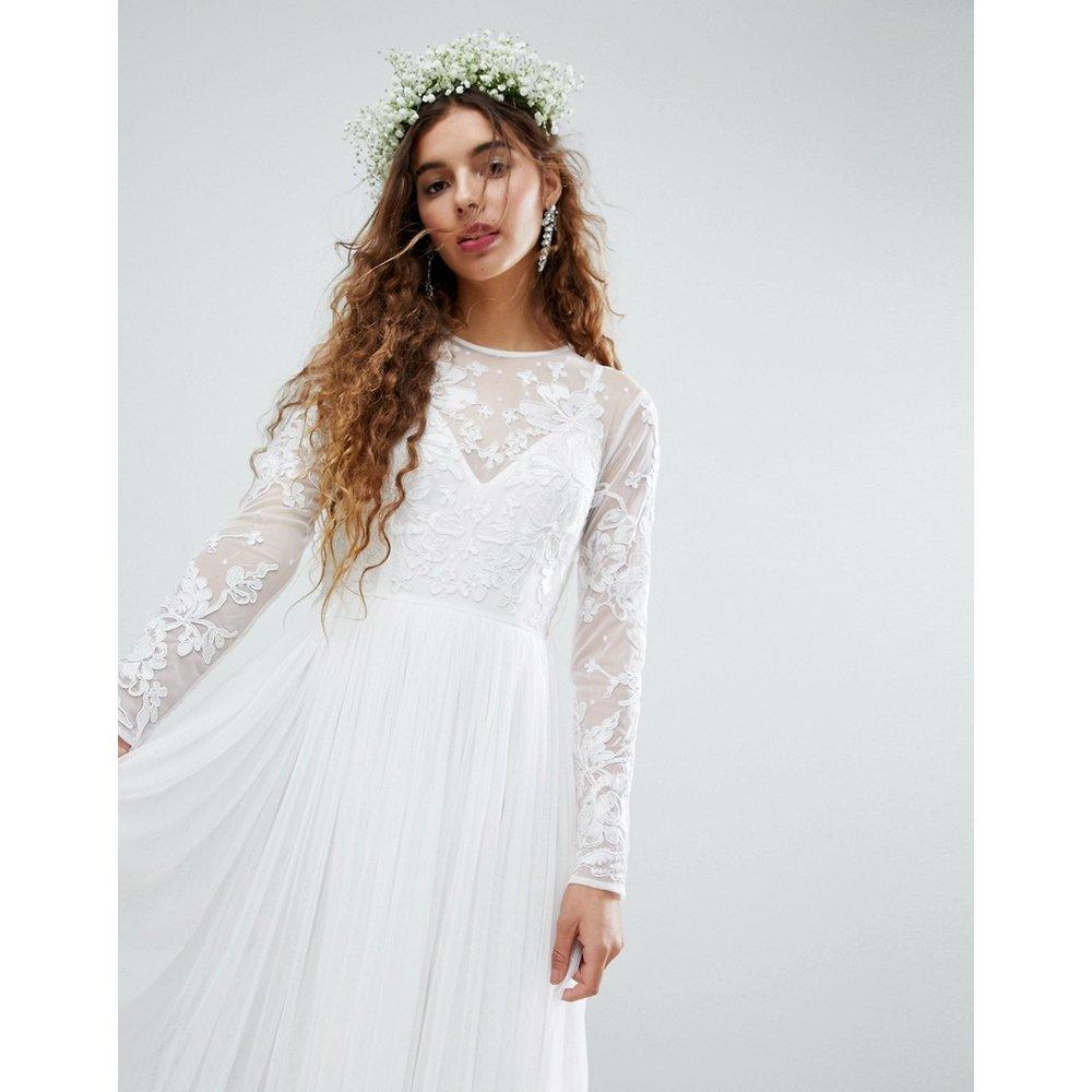 Robe de mariée longue avec corsage brodé - ASOS EDITION - Modalova