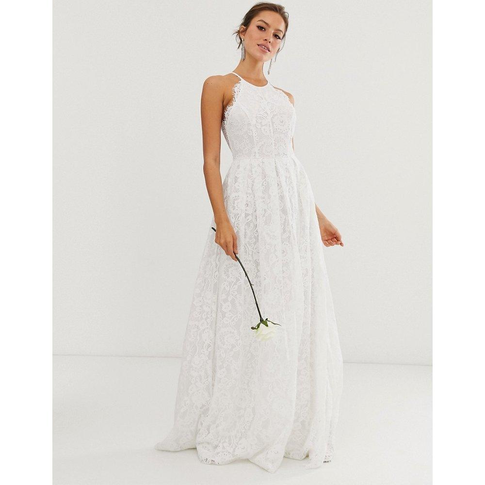 Robe longue de mariée en dentelle dos nageur - ASOS EDITION - Modalova