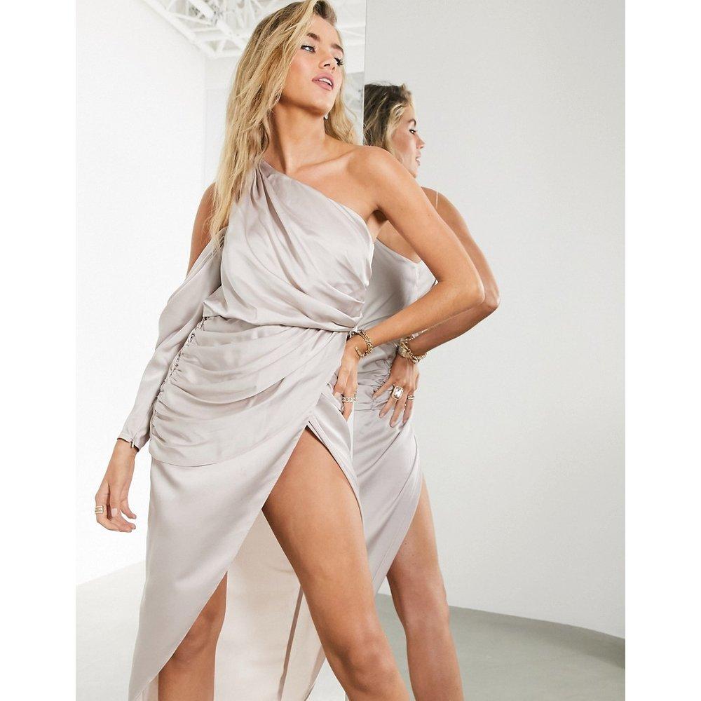 Robe mi-longue asymétrique drapée - ASOS EDITION - Modalova