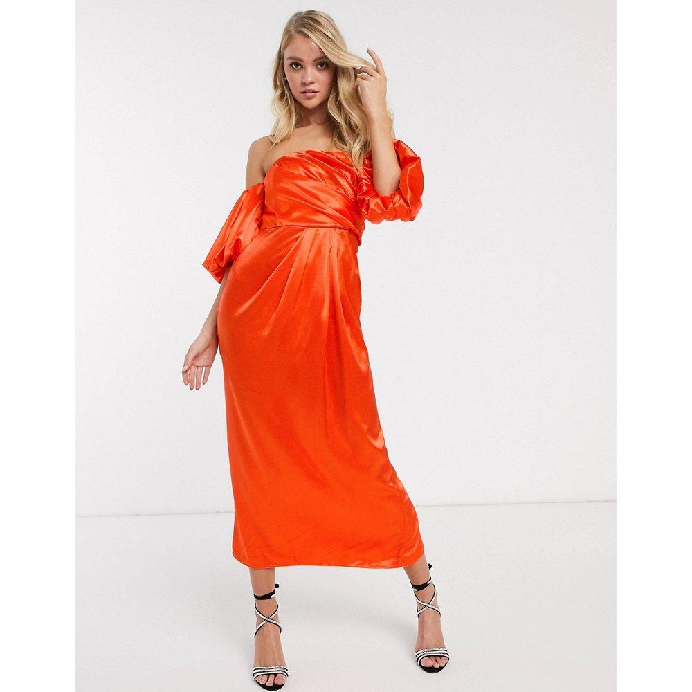 Robe mi-longue asymétrique drapée en satin - ASOS EDITION - Modalova