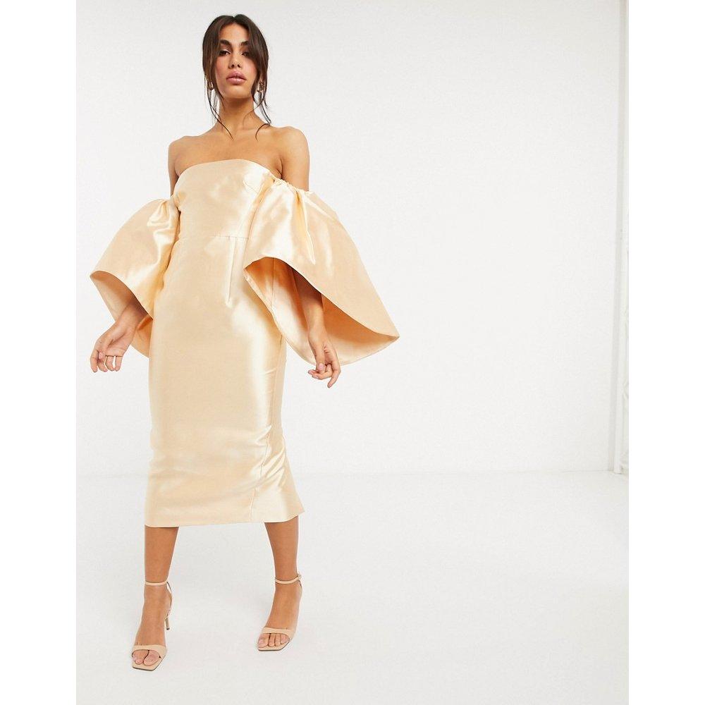 Robe mi-longue structurée avec manches extrêmes - ASOS EDITION - Modalova