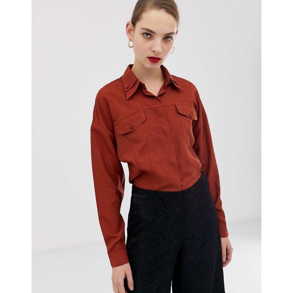 Chemise avec coutures apparentes - ASOS WHITE - Modalova