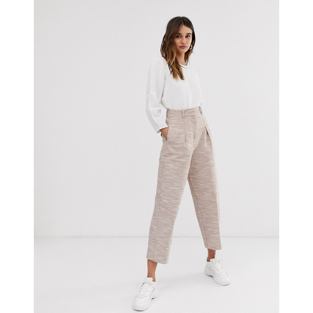 Pantalon large en coton texturé - ASOS WHITE - Modalova