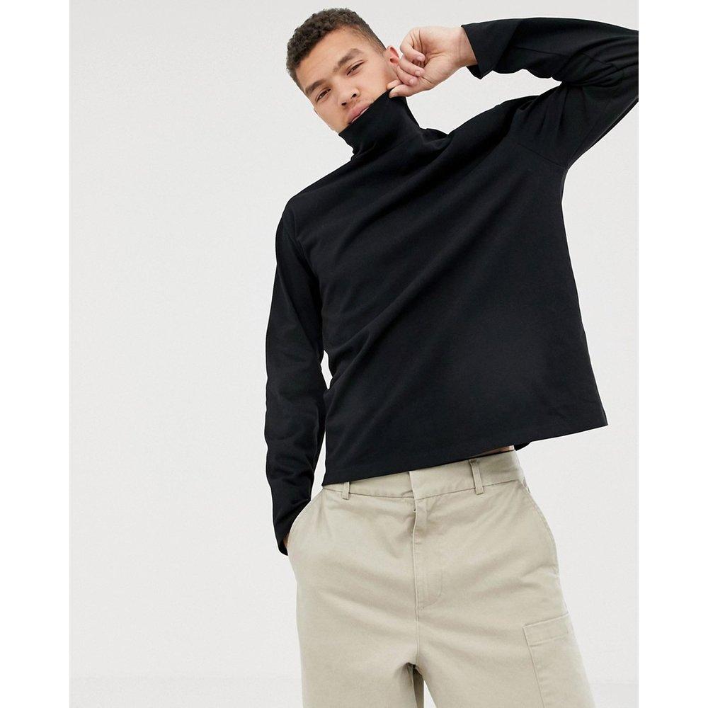 T-shirt ample manches longues à col roulé - ASOS WHITE - Modalova