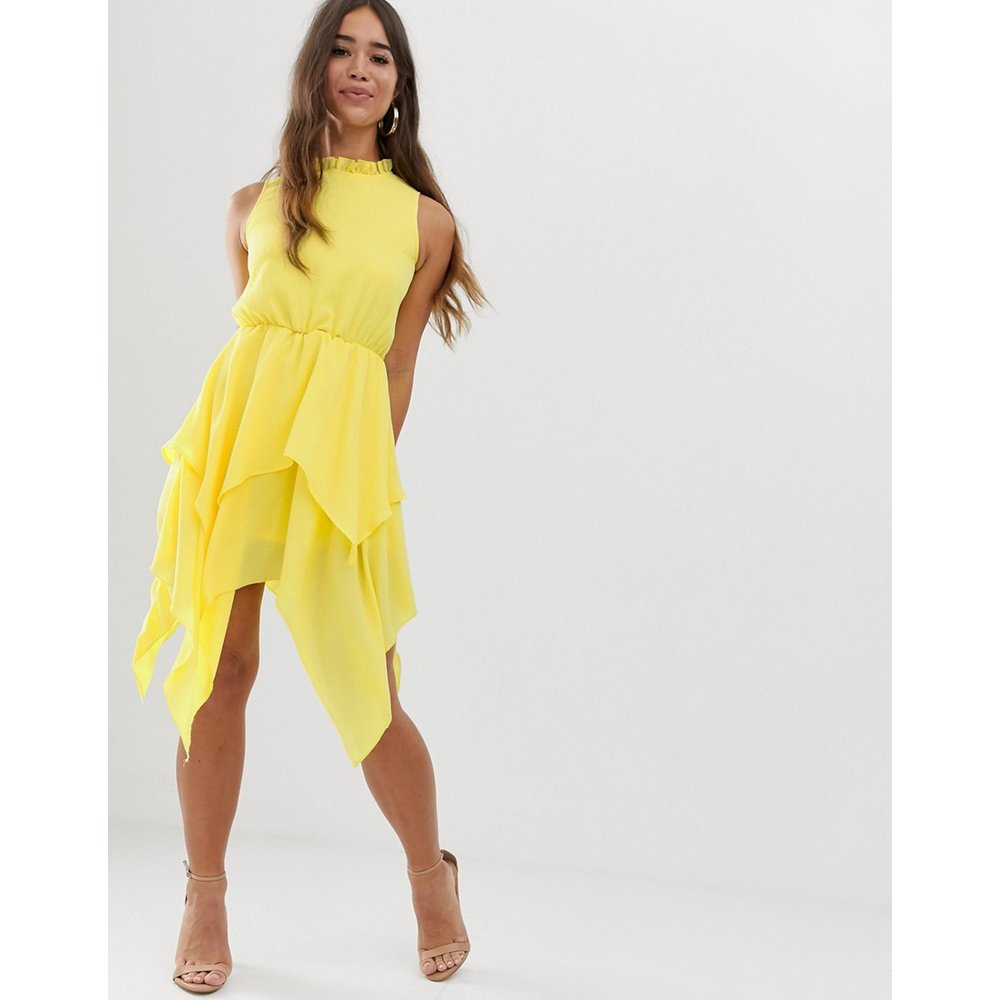 AX Paris - Robe mi-longue - Jaune - AX Paris - Modalova