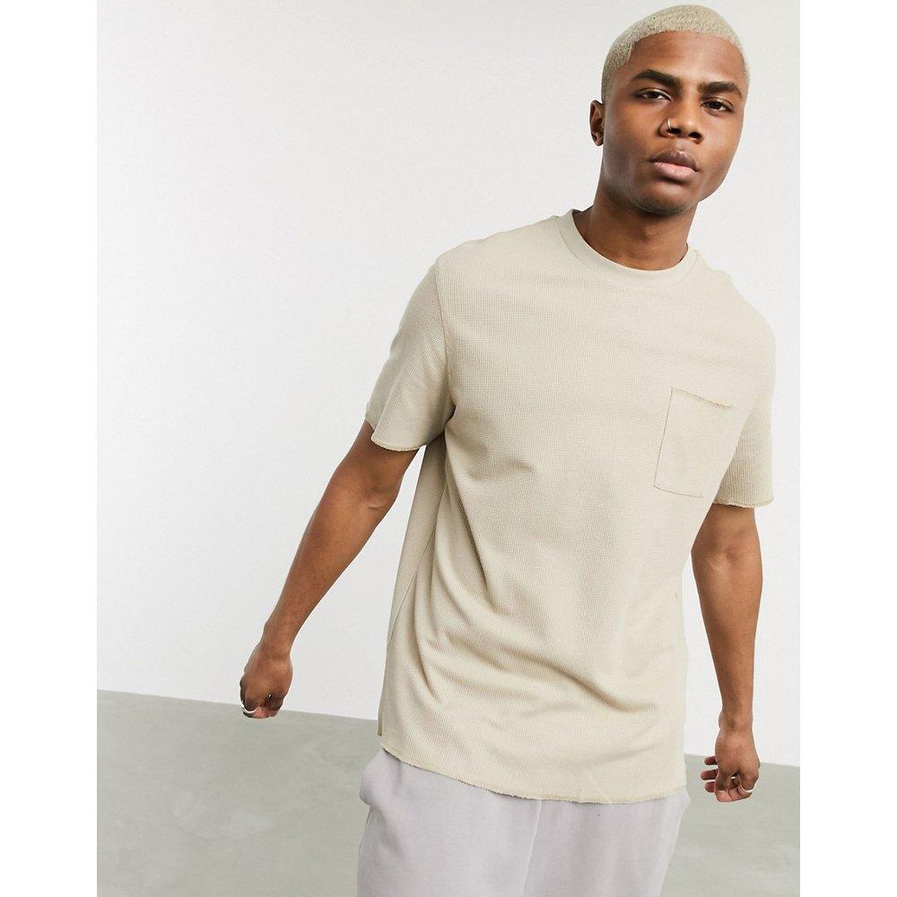 T-shirt gaufré à poche - Bershka - Modalova