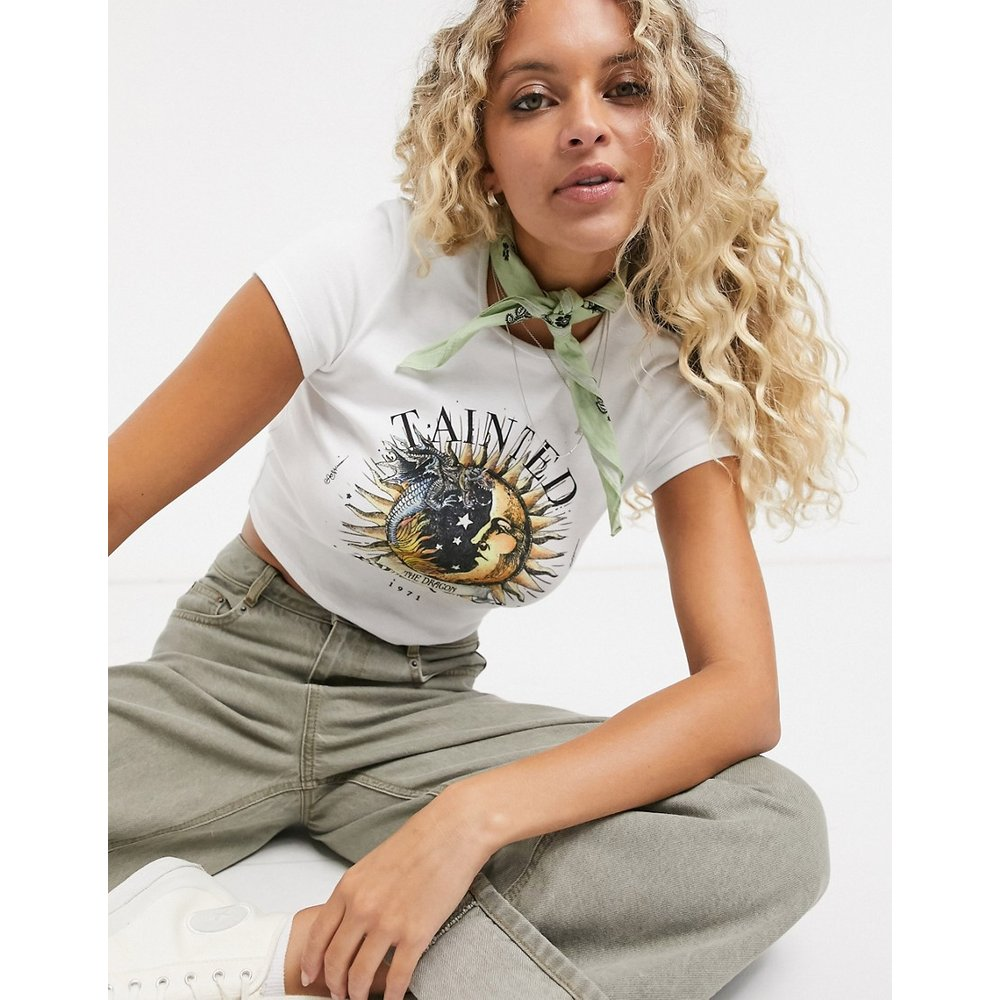 T-shirt motif célèste - Bershka - Modalova