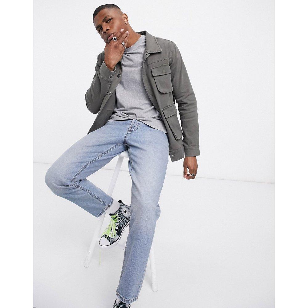 Veste en jean avec poches fonctionnelles - Kaki - Blood Brother - Modalova