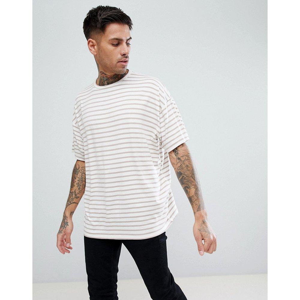 T-shirt oversize à rayures - boohooMAN - Modalova