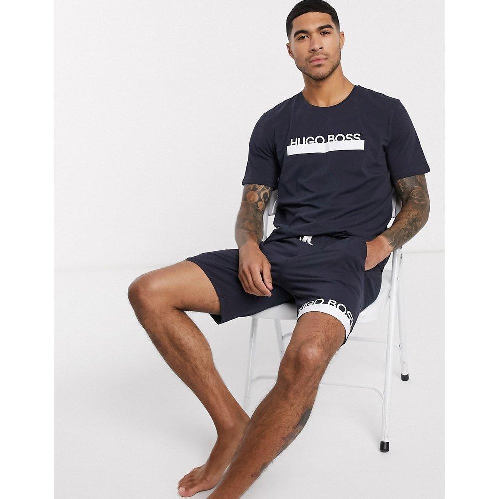 Bodywear Identity - T-shirt d'ensemble à logo - Bleu marine - Boss - Modalova