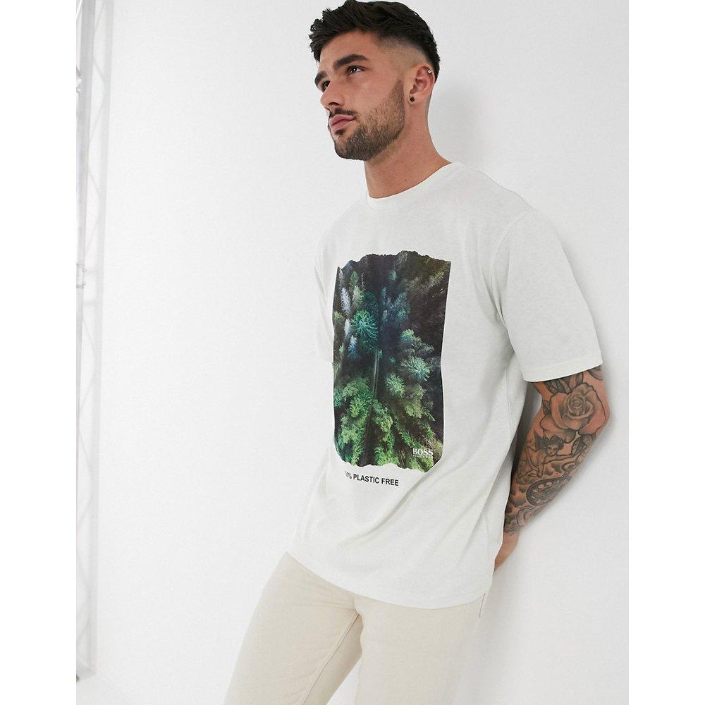 T-shirt à imprimé arbre sans plastique - Boss - Modalova