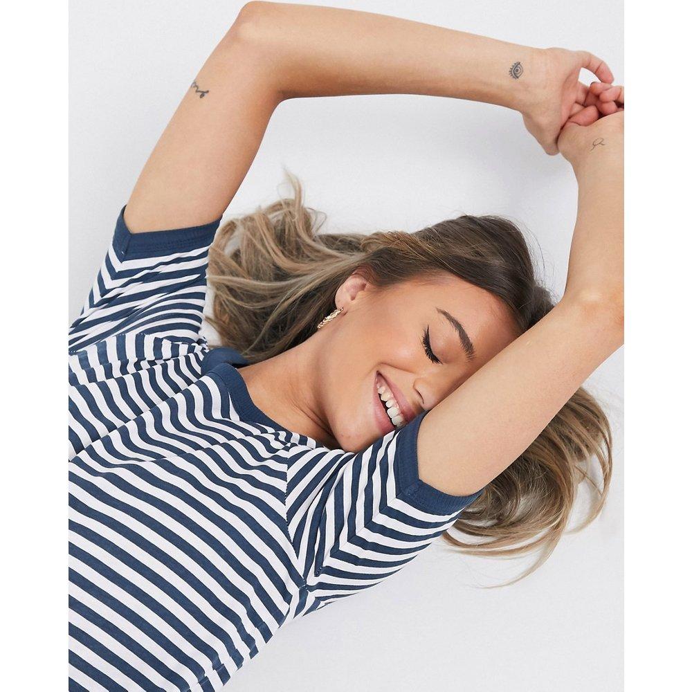 Birkin - T-shirt à rayures - Blanc et bleu marine - Brave Soul - Modalova