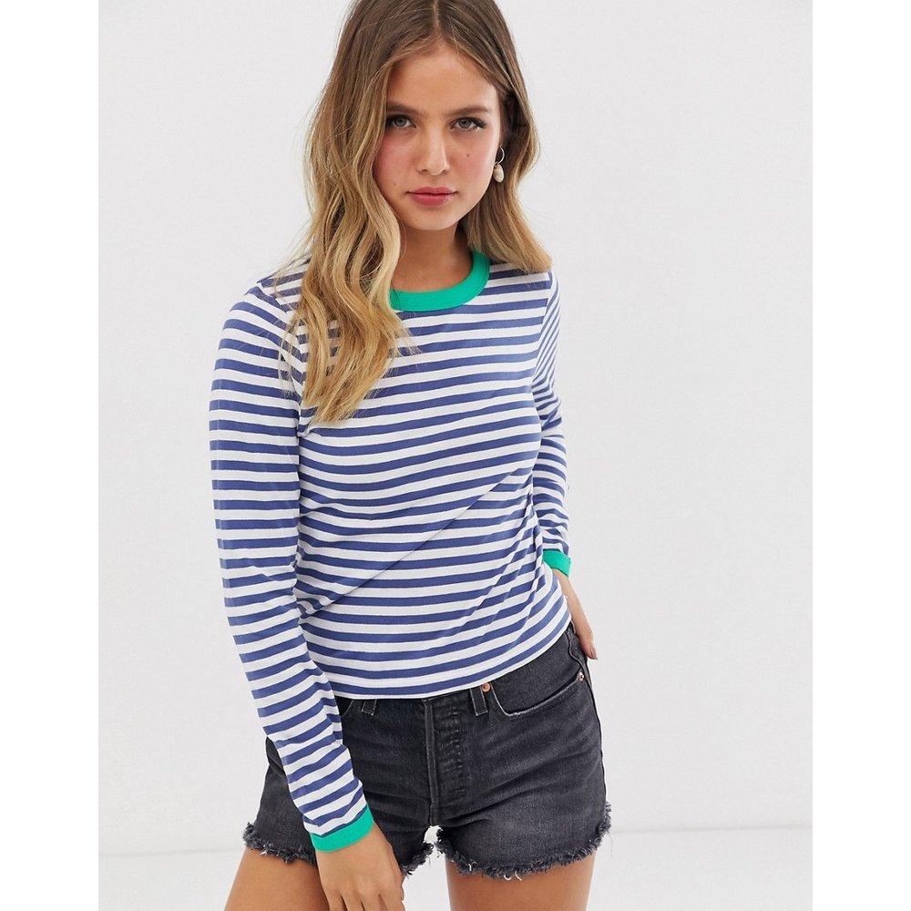 Eloise - T-shirt à manches longues et côtes contrastantes - Brave Soul - Modalova