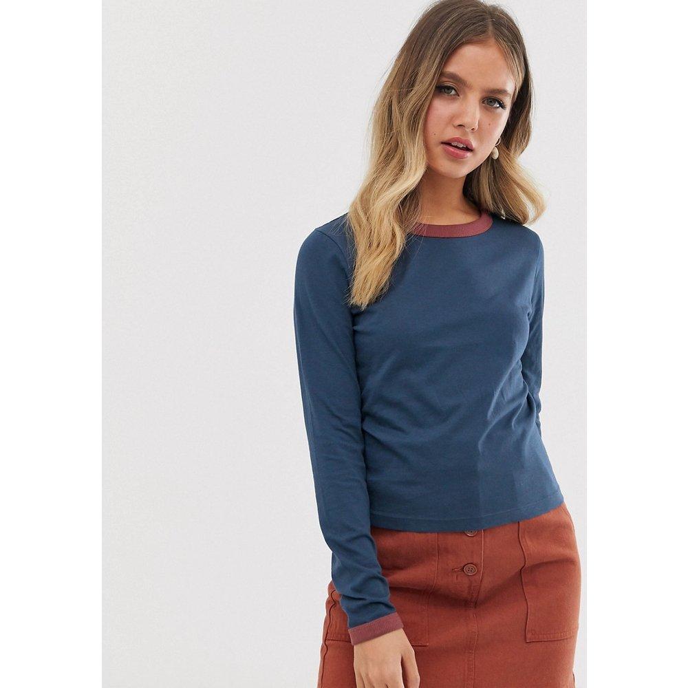Eloise - T-shirt manches longues avec côtes contrastantes - Brave Soul - Modalova