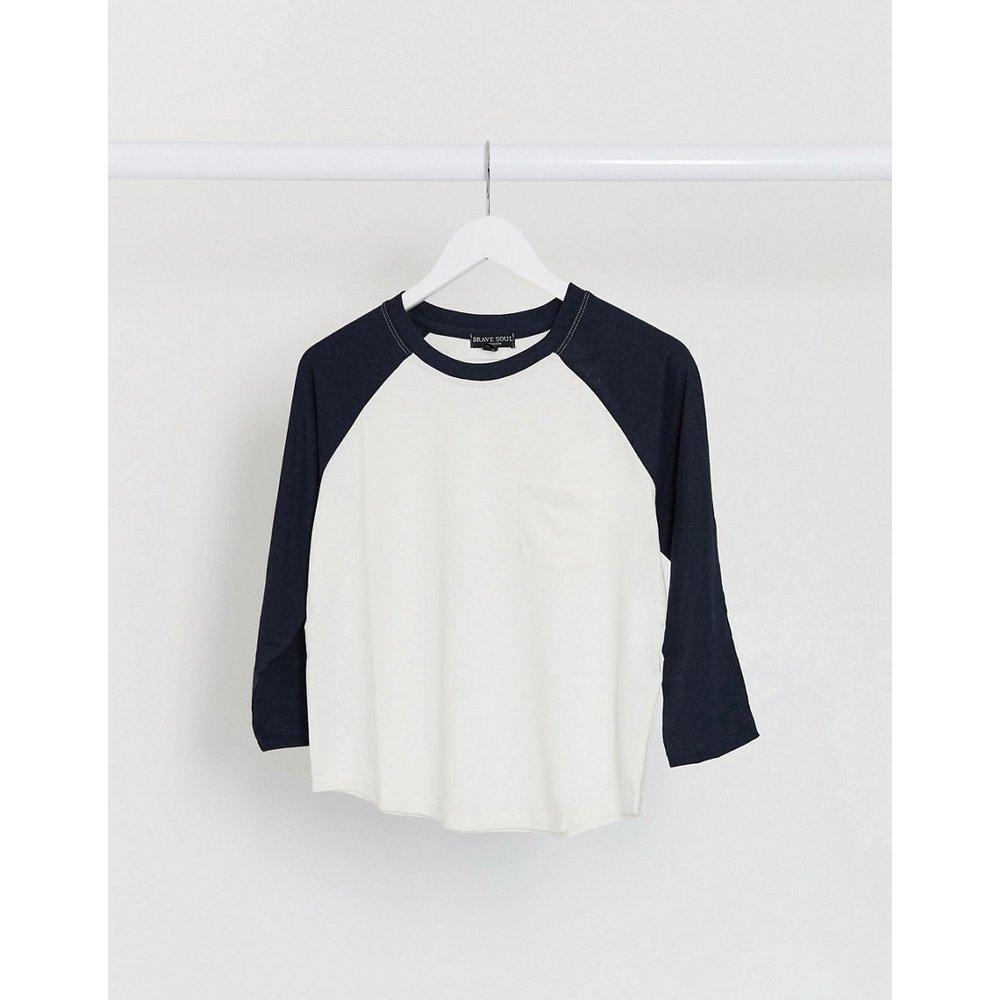 Kiah - T-shirt à manches raglan contrastantes - Brave Soul - Modalova