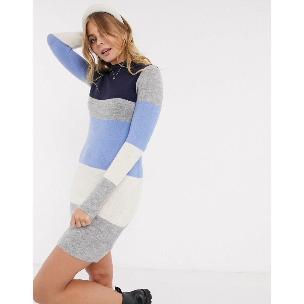 Marlow - Robe pull à rayures effet color block à col montant - Brave Soul - Modalova
