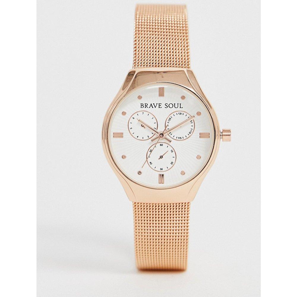 Montre chronographe avec bracelet en maille - Brave Soul - Modalova