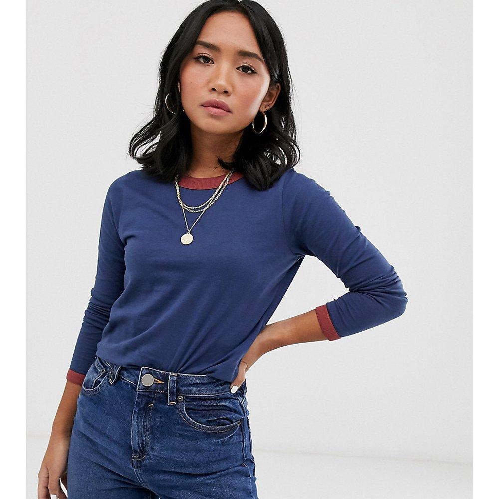 Eloise - T-shirt à manches longues avec bordures contrastantes - Brave Soul Petite - Modalova