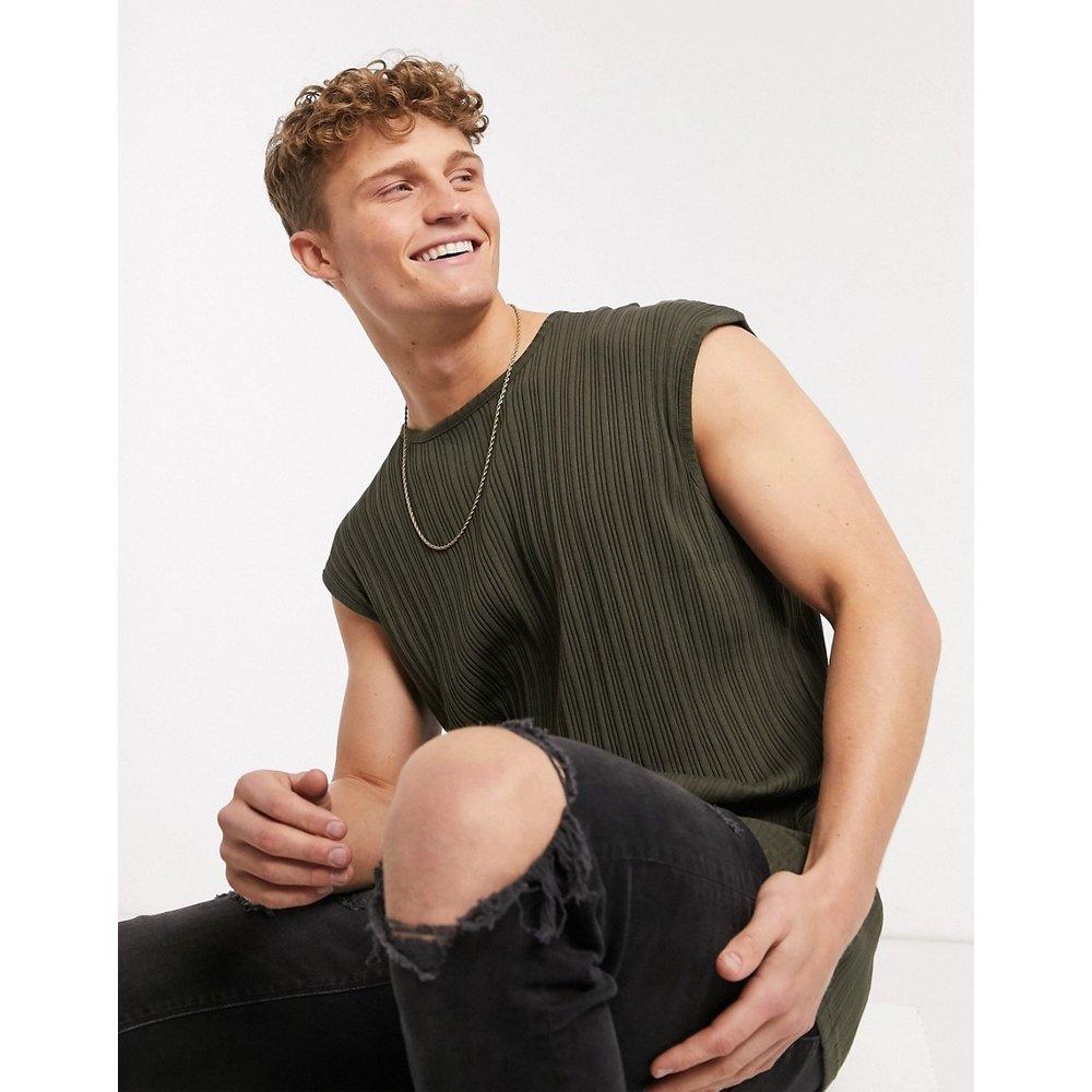 T-shirt oversize côtelé sans manches - Brave Soul - Modalova