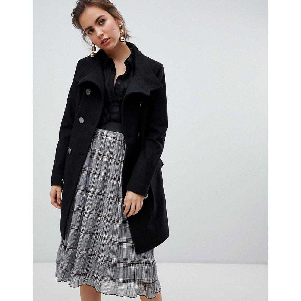 Manteau en laine avec boutons style militaire - b.Young - Modalova