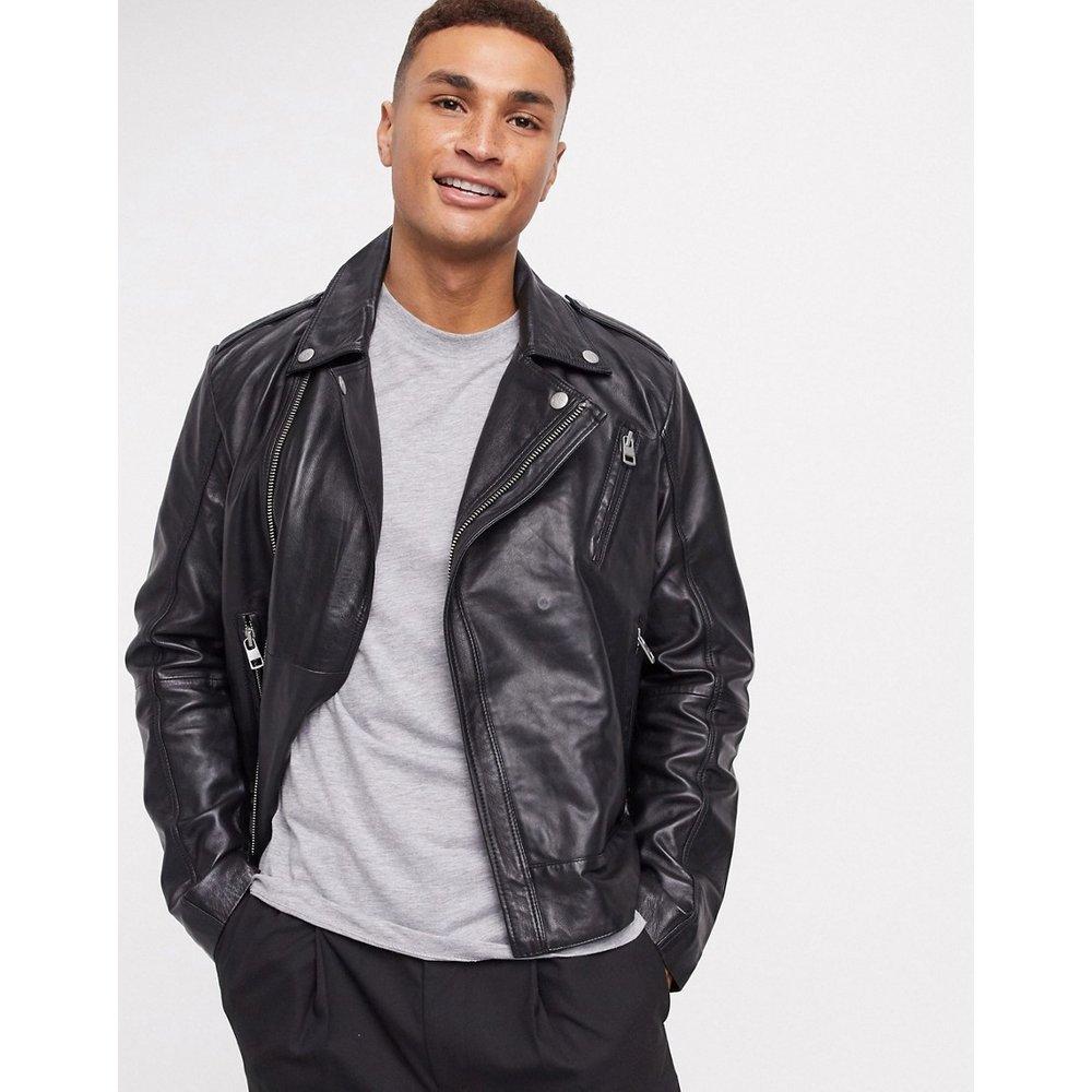 Blouson en cuir style motard - Calvin Klein Jeans - Modalova