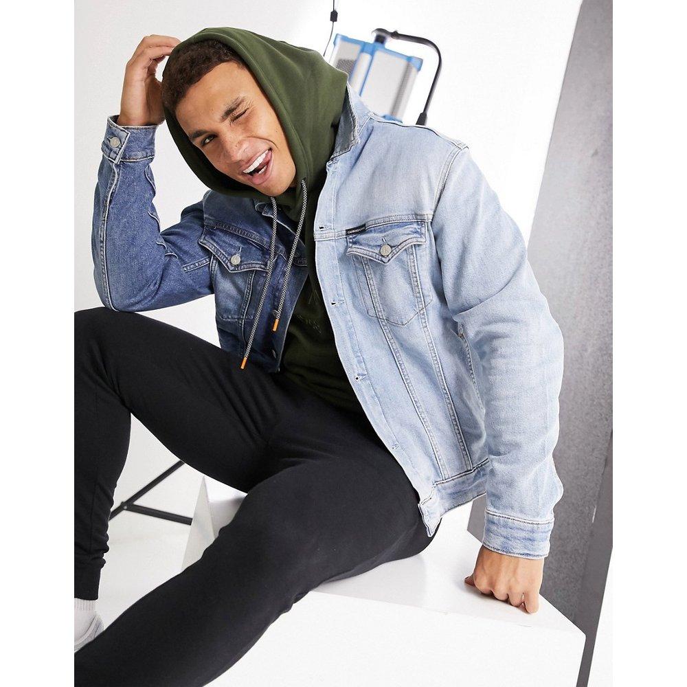 Foundation - Veste en jean coupe slim - Calvin Klein Jeans - Modalova