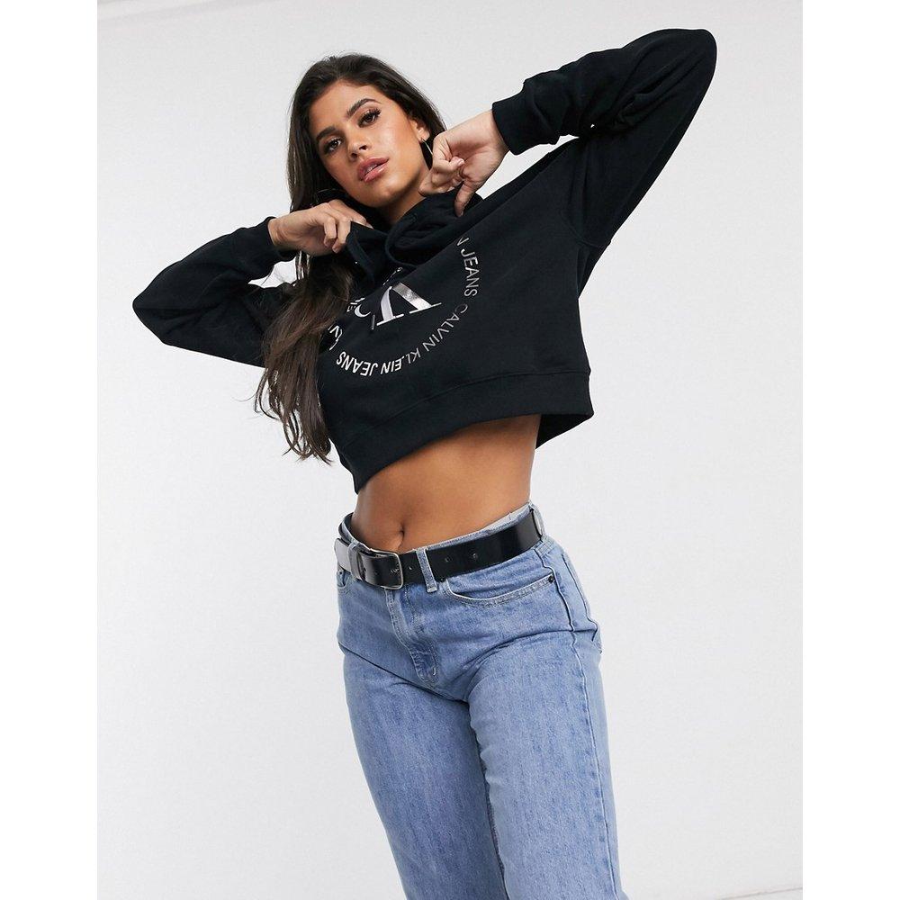 Hoodie à logo rond - Calvin Klein Jeans - Modalova