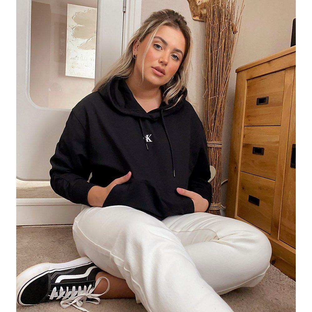 Hoodie avec logo imprimé dans le dos - Calvin Klein Jeans Plus - Modalova