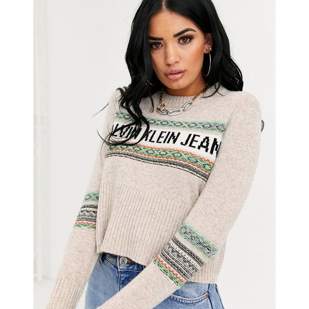 Pull en jacquard à logo - Calvin Klein Jeans - Modalova