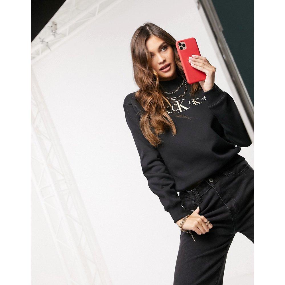 Sweat-shirt avec logo et faux col - Calvin Klein Jeans - Modalova