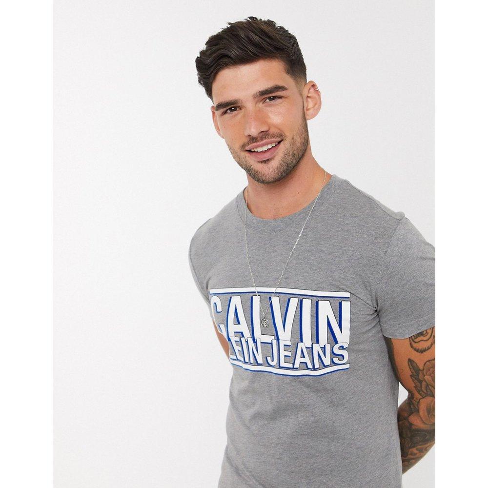 T-shirt slim avec gros logo - Calvin Klein Jeans - Modalova