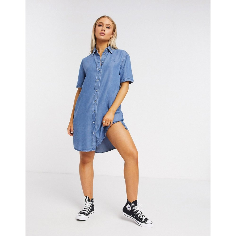 Robe chemise en jean - moyen - Calvin Klein - Modalova