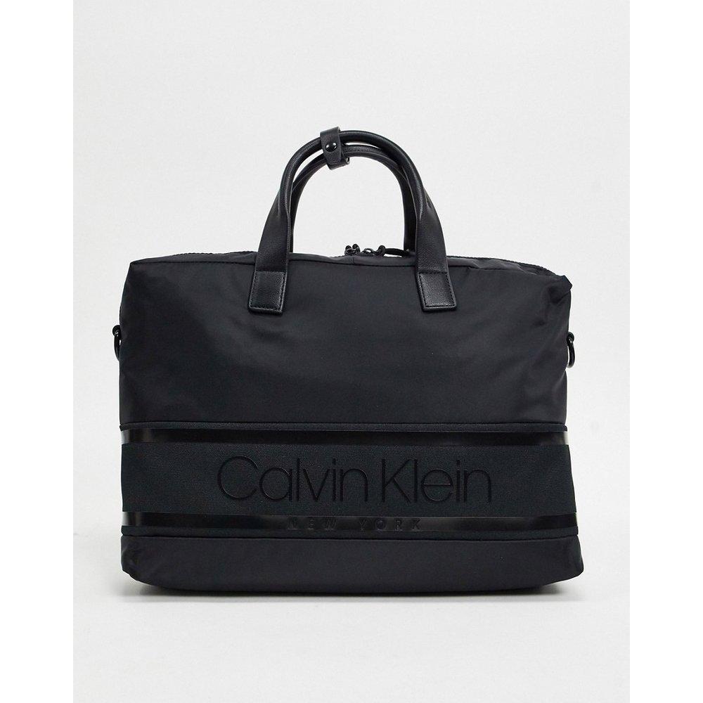 Sacoche pour ordinateur portable avec logo rayé - Calvin Klein - Modalova