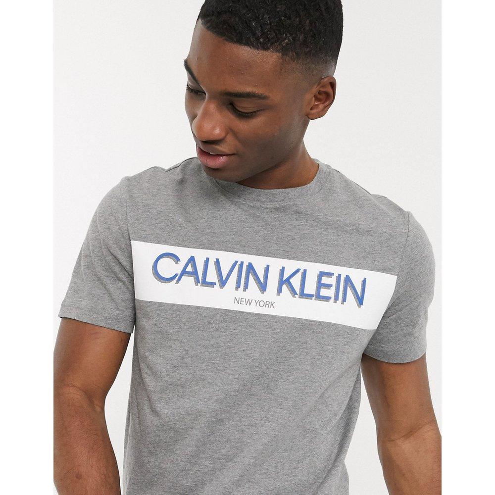 T-shirt avec bande à logo - Calvin Klein - Modalova