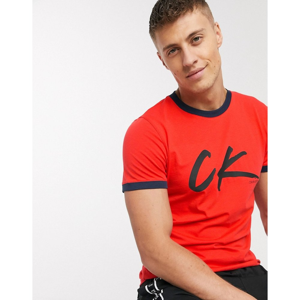 Wave - T-shirt de plage avec logo rétro - Calvin Klein - Modalova
