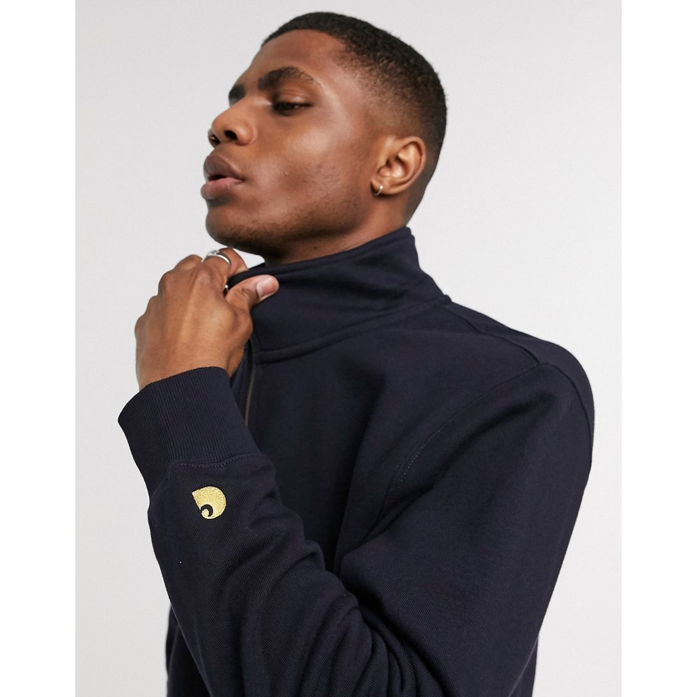Chase - Sweat-shirt avec demi-fermeture éclair - Bleu marine - Carhartt WIP - Modalova