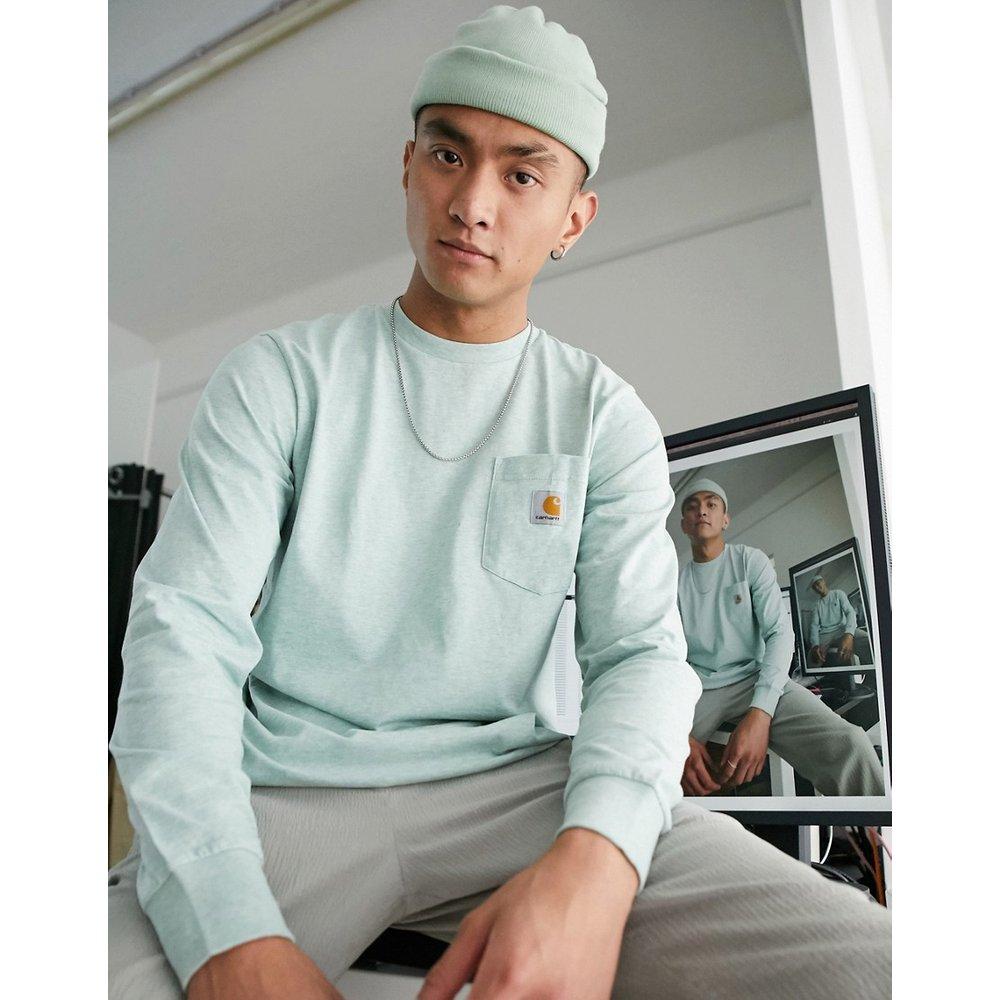 T-shirt manches longues avec poche sur le devant - Chiné zola - Carhartt WIP - Modalova