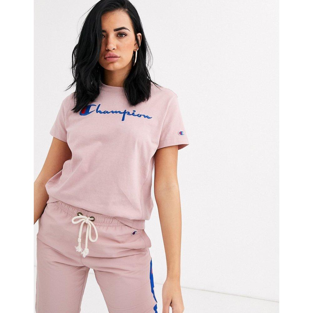 T-shirt ajusté avec logo tissé sur l'envers - Champion - Modalova