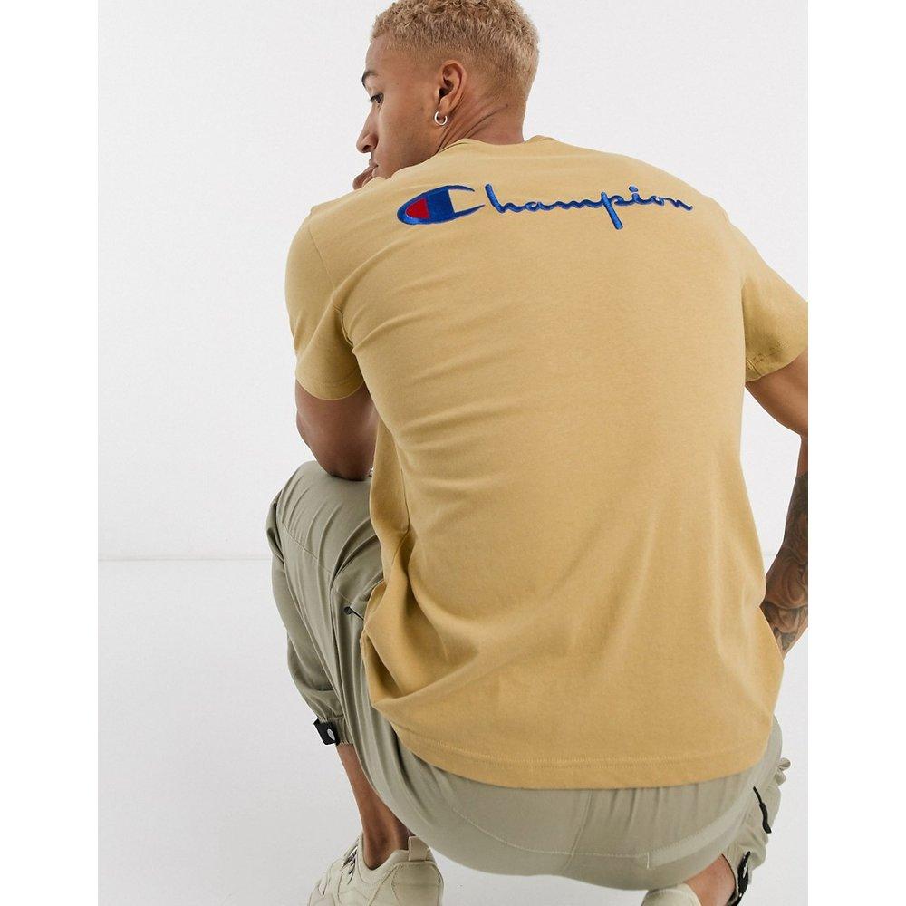 T-shirt ras de cou avec inscription dans le dos - Champion - Modalova